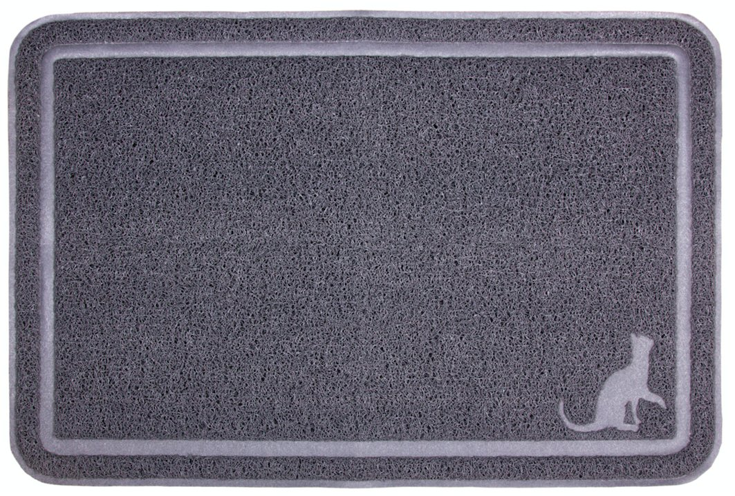 Caldwell's Extra Large, Tidy and Dust Free, Kitty Cat Litter Mat and Clumping Litter Trap 35.5 X 24 Inches Scatter Control Kittie Crystal Catcher Mats with Soft Paw Design
