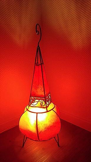 Casablanca Orient Marrakesch lámpara, Piel, pie, Henna ...