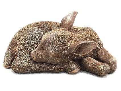 Etonnant Sleeping Fawn Deer Garden Statue
