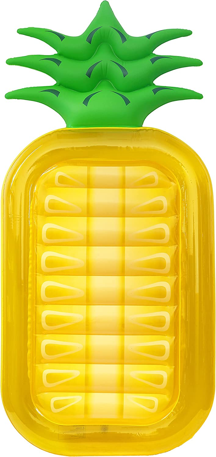 Greenco Giant Inflatable Pineapple Pool Lounger Float Over 6 Feet Long