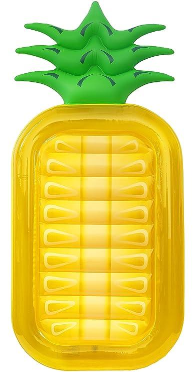 Greenco Gigante Hinchable piña Piscina Tumbona Float Over 6 ...