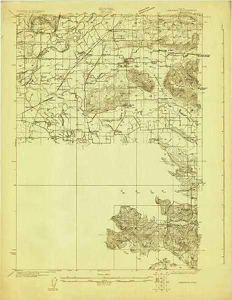 Amazon Com Yellowmaps Lebanon Or Topo Map 1 48000 Scale 15 X 15