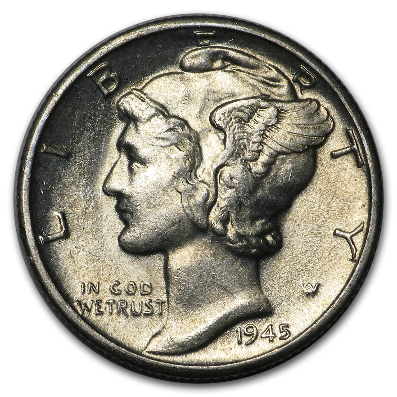 1945-S Mercury Dime Choice BU