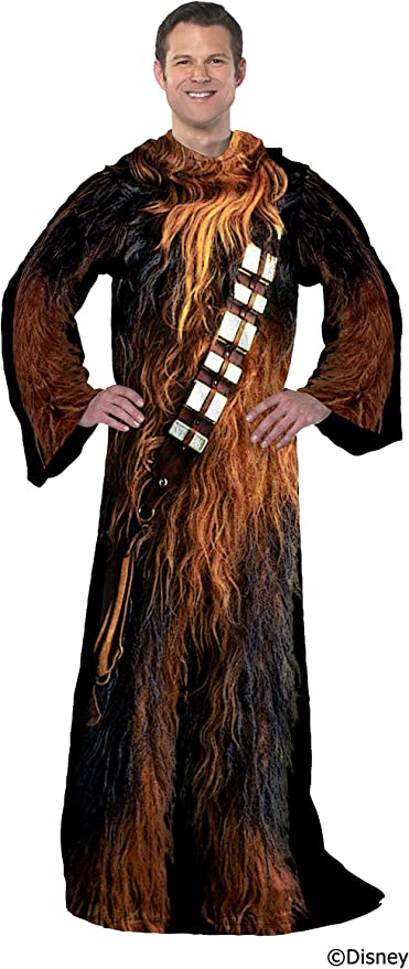 """New Star Wars Being Darth Vader Adult Comfy Throw Blanketwith Sleeves 48""""x 71"""""""