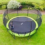 Rebo Base Jump - Trampoline de jardin avec filet de sécurité Halo ll