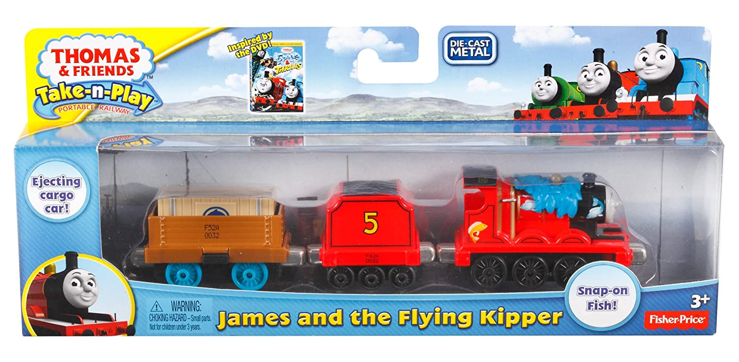 amazon com fisher price thomas the train take n play james and