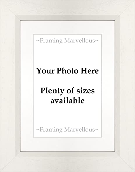 Amazon Framing Marvellous White Wooden Photo Picture Frame