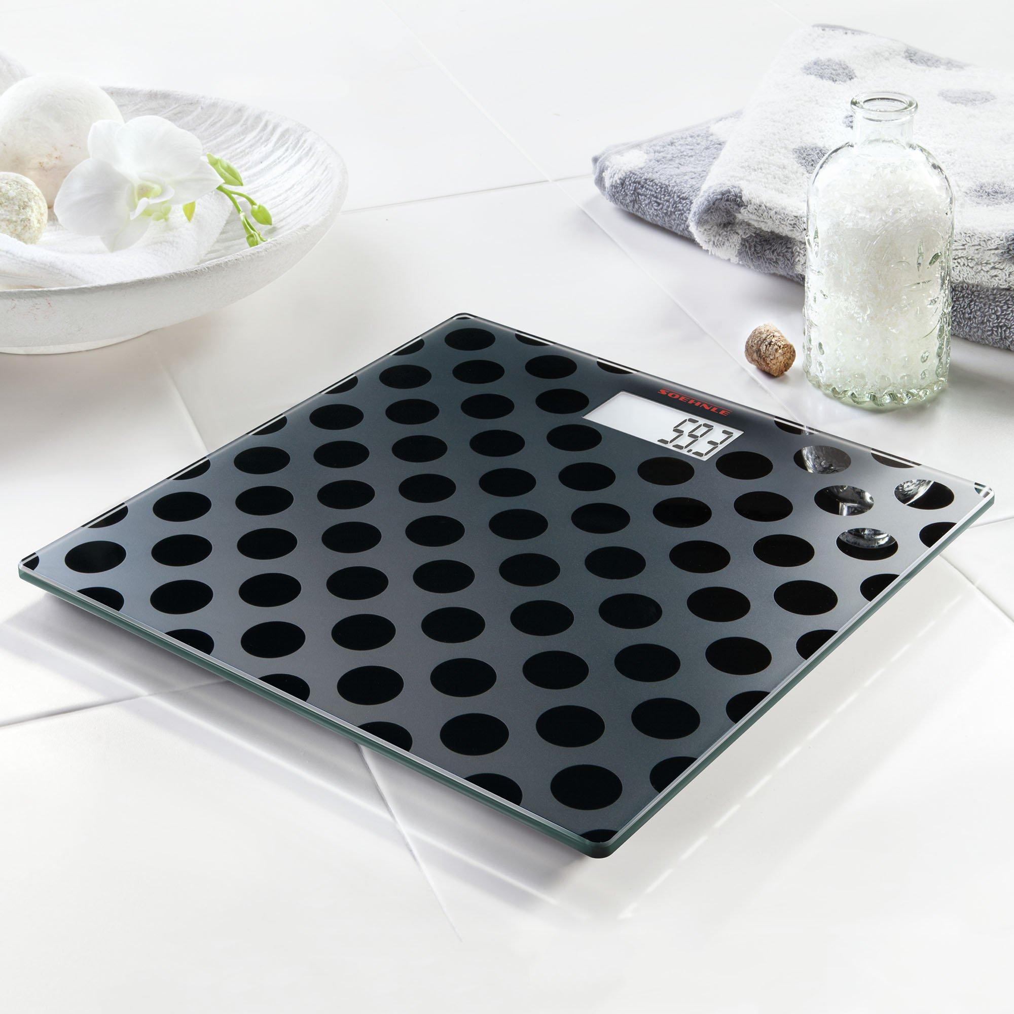 Soehnle Maya Digital black Edition Personal Glass Bathroom Scale, Circles by Soehnle (Image #3)