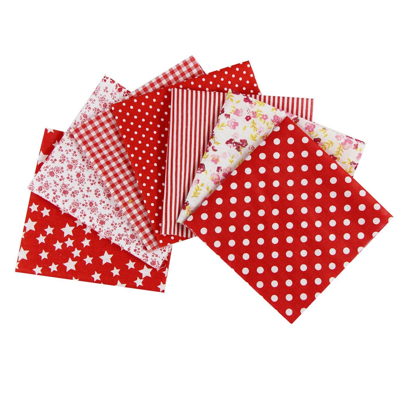 UOOOM 7 pcs Cotton Patchwork Fabric Square of 25 x 25cm Sewing Quilting Scrapbooking DIY Artcraft (Purple) ZHICHENG
