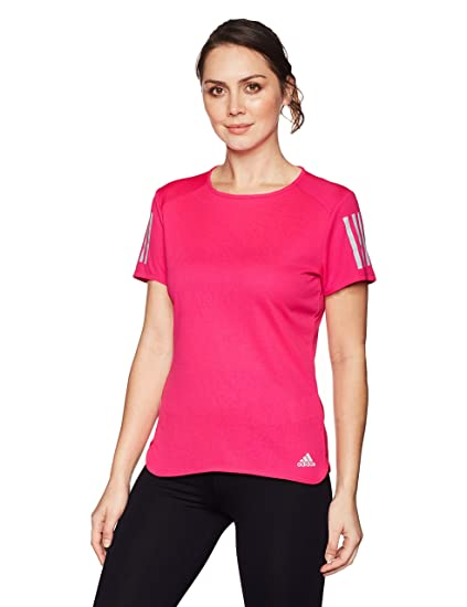 36a10d9eee4 adidas Women Tshirts Running Response Tee Training Pink Gym Work Out CW3311  (XSmall)
