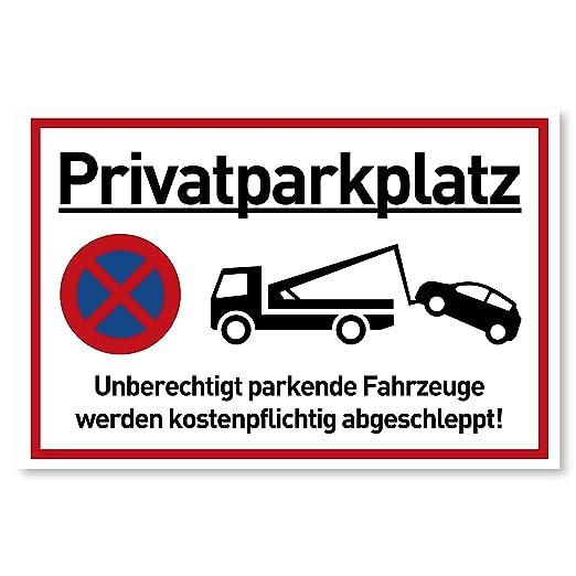 Cartel de Aparcamiento Privado Prohibido vehículos se ...