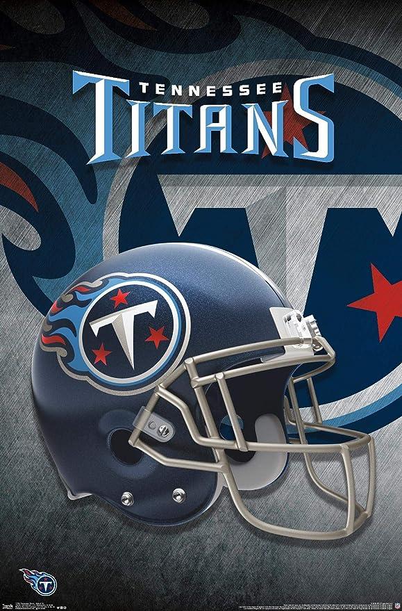 Amazon Com Trends International Nfl Tennessee Titans Helmet 18 Wall Poster 22 375 X 34 Unframed Version Home Kitchen