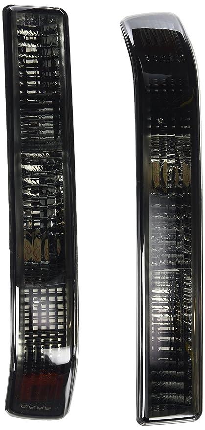 Spec-D Tuning 2LB-S1098G-RS Chevy S10 Blazer GMC Sonoma Smoke Bumper Lights  w/Amber Reflector