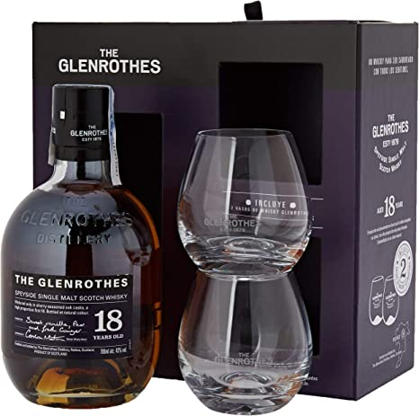 The Glenrothes 18 años Single Malt Scotch Whisky 43% + Pack Regalo ...