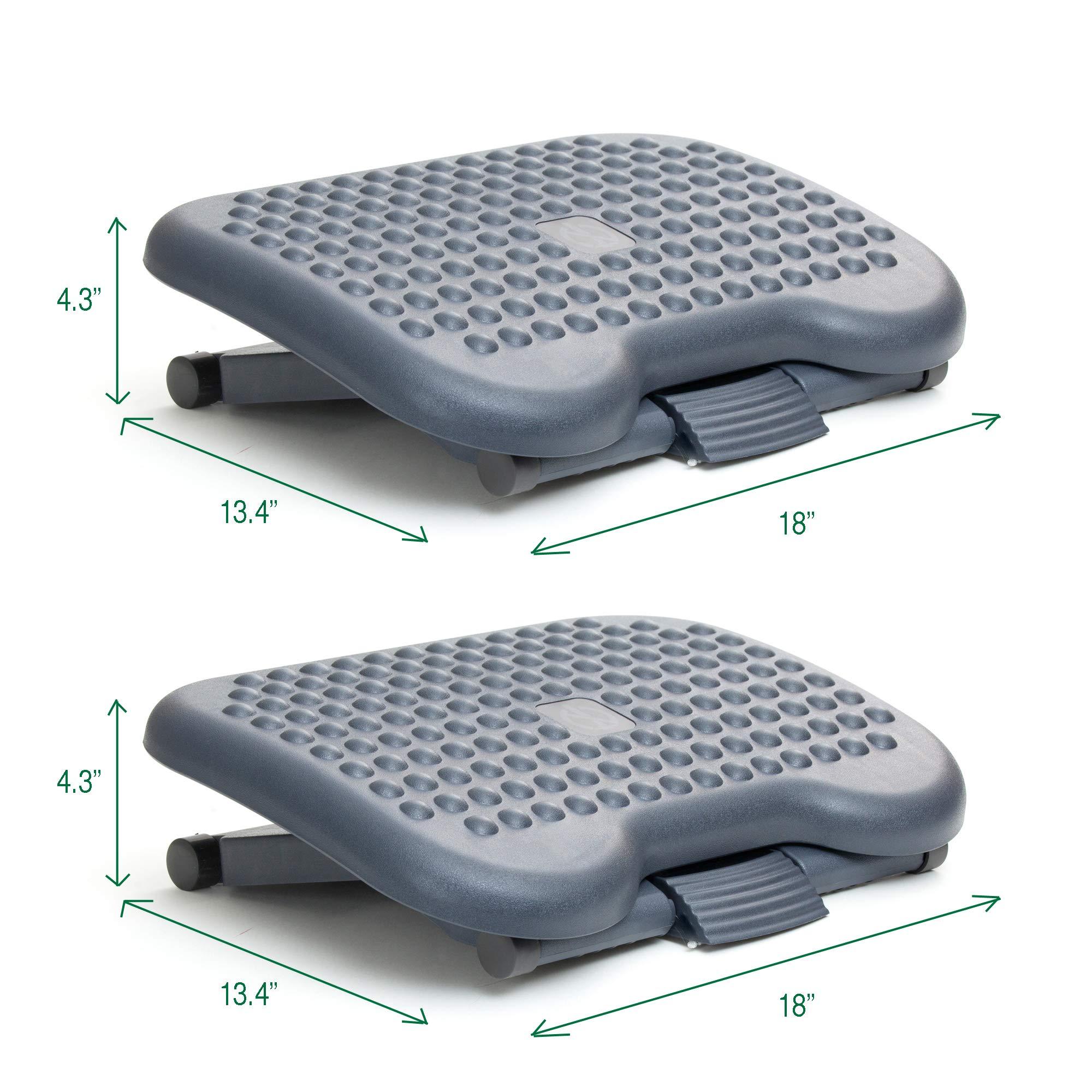 Mind Reader 2FTREST-BLK 2 Pack Adjustable Height Ergonomic Foot Rest, Black by Mind Reader (Image #7)