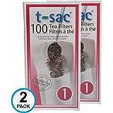 Magic Teafit Modern Tea Filter Bags, Disposable Tea Infuser, Size 1, Set of 200 Filters - 2 Boxes - Heat Sealable…