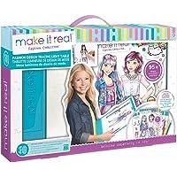 Make It Real - Fashion Design Mega Set with Light Table. Kids Fashion Design Kit Includes Light Table, Coloured Pencils…