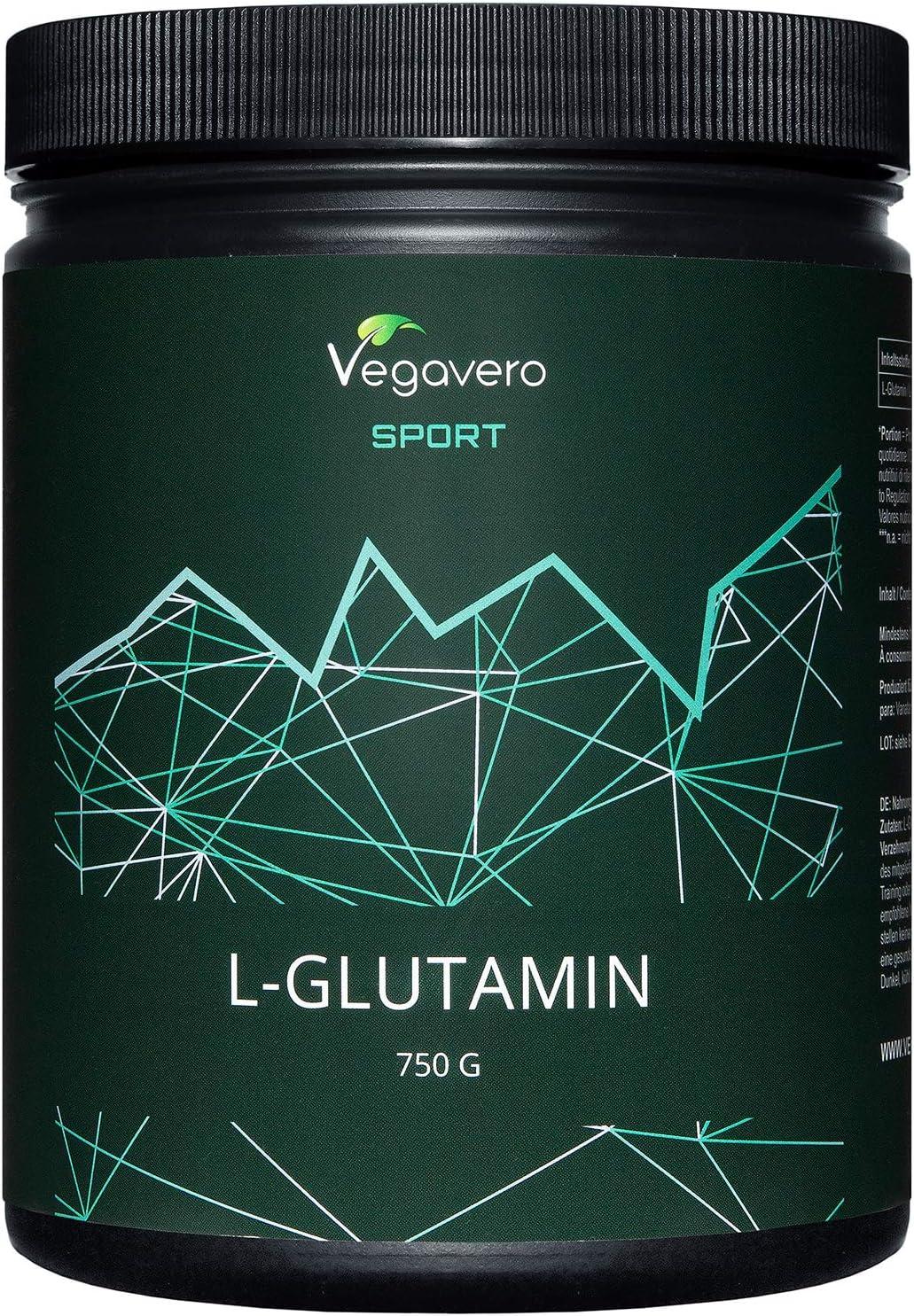 L-Glutamina Vegavero® Sport   PURA SIN ADITIVOS   750 g en Polvo   Post Entreno   Recuperador Muscular   Dolor Muscular + Agujetas   L Glutamine   ...