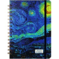 """Planner 2021- Monthly Weekly Planner 2021 with Tabs, 6.4""""x 8.5"""", Jan 2021 - Dec 2021, Flexible Hardcover, Strong Binding…"""