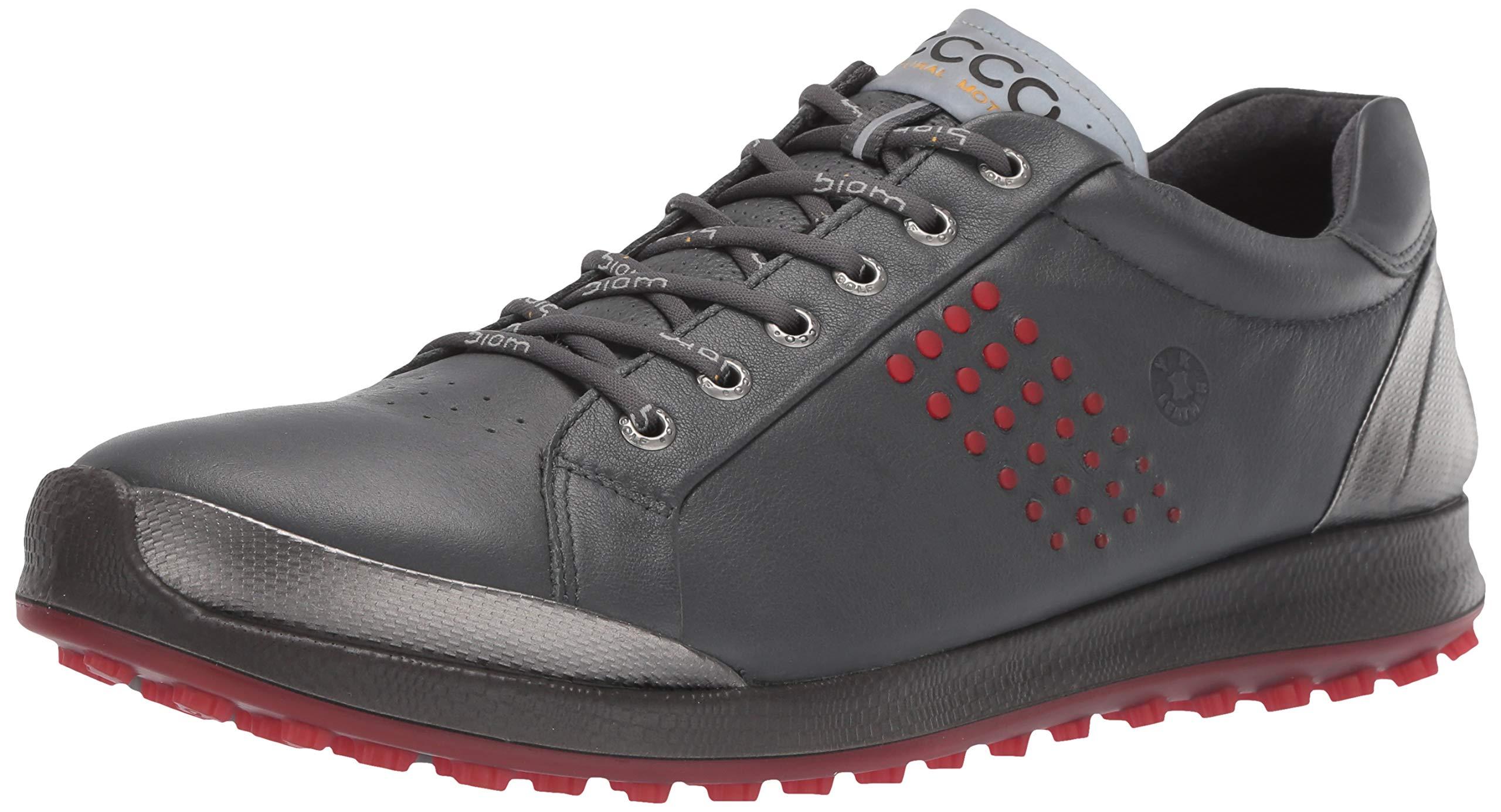 ECCO Men's Biom Hybrid 2 Hydromax Golf Shoe Dark Shadow Yak Leather 39 M EU (5-5.5 US)