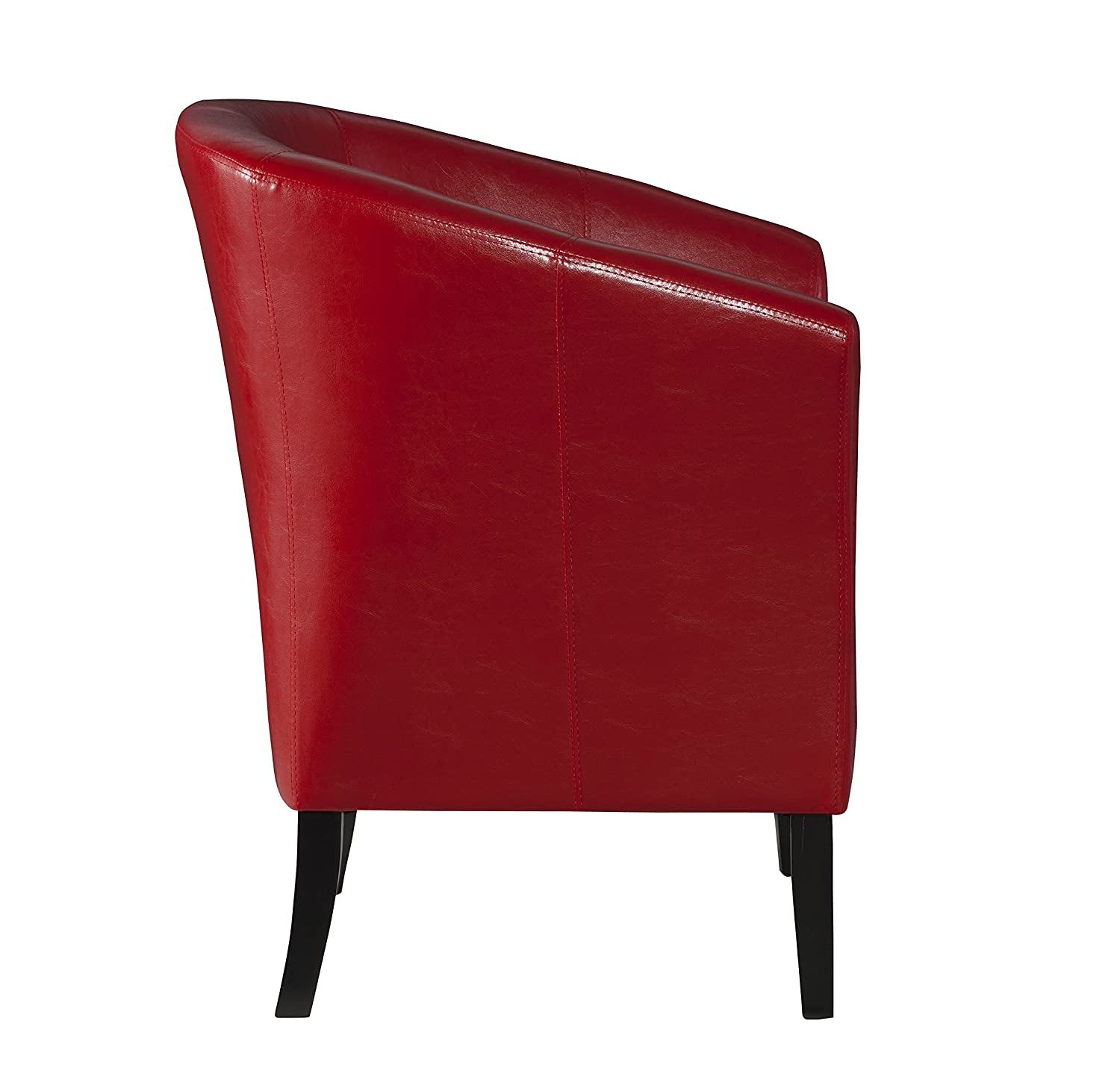 Amazon Linon Home Decor Simon Club Chair Red Kitchen & Dining