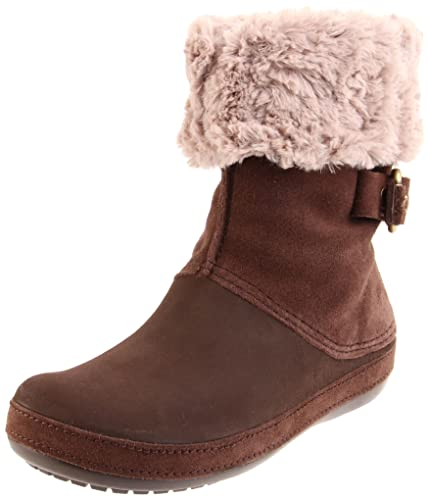54ca2f52b Crocs Womens Berryessa Buckle Boot Brown 4 UK  Amazon.co.uk  Shoes ...