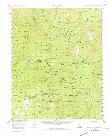 Map Of California Hot Springs.Amazon Com Yellowmaps California Hot Springs Ca Topo Map 1 62500