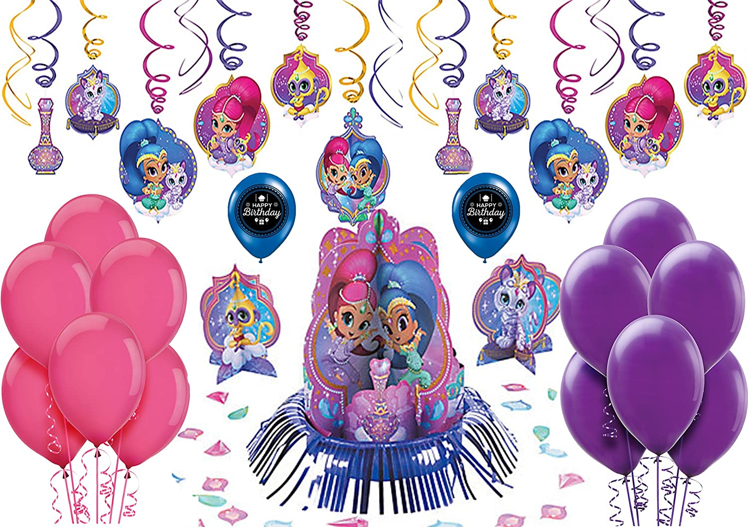 Amazon Shimmer And Shine Birthday Party Decorating Kit Bundle Toys Games