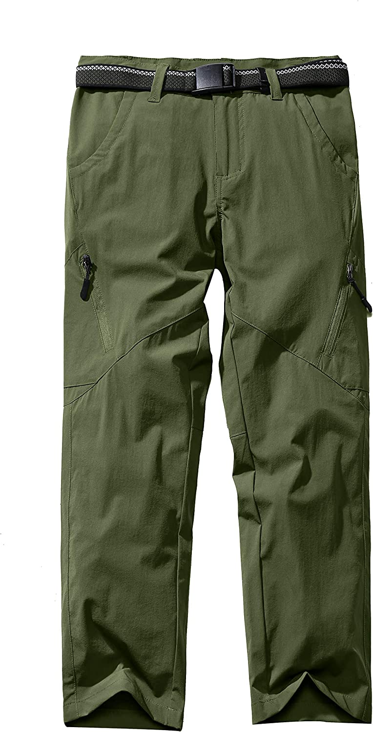 Asfixiado Boys Cargo Pants, Kids Youth Girls Outdoor Quick Dry Hiking Convertible Trousers