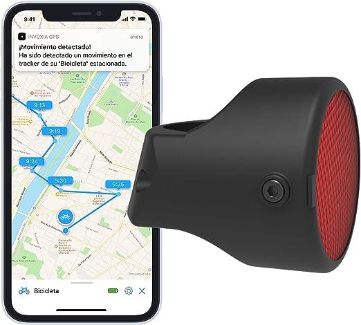 Invoxia 90067 Bike Tracker, Localizador GPS Antirrobo para Bicicleta, Reflector con Alertas en Tiempo Real, Suscripción de 3 años Incluida: Amazon.es: Deportes y aire libre