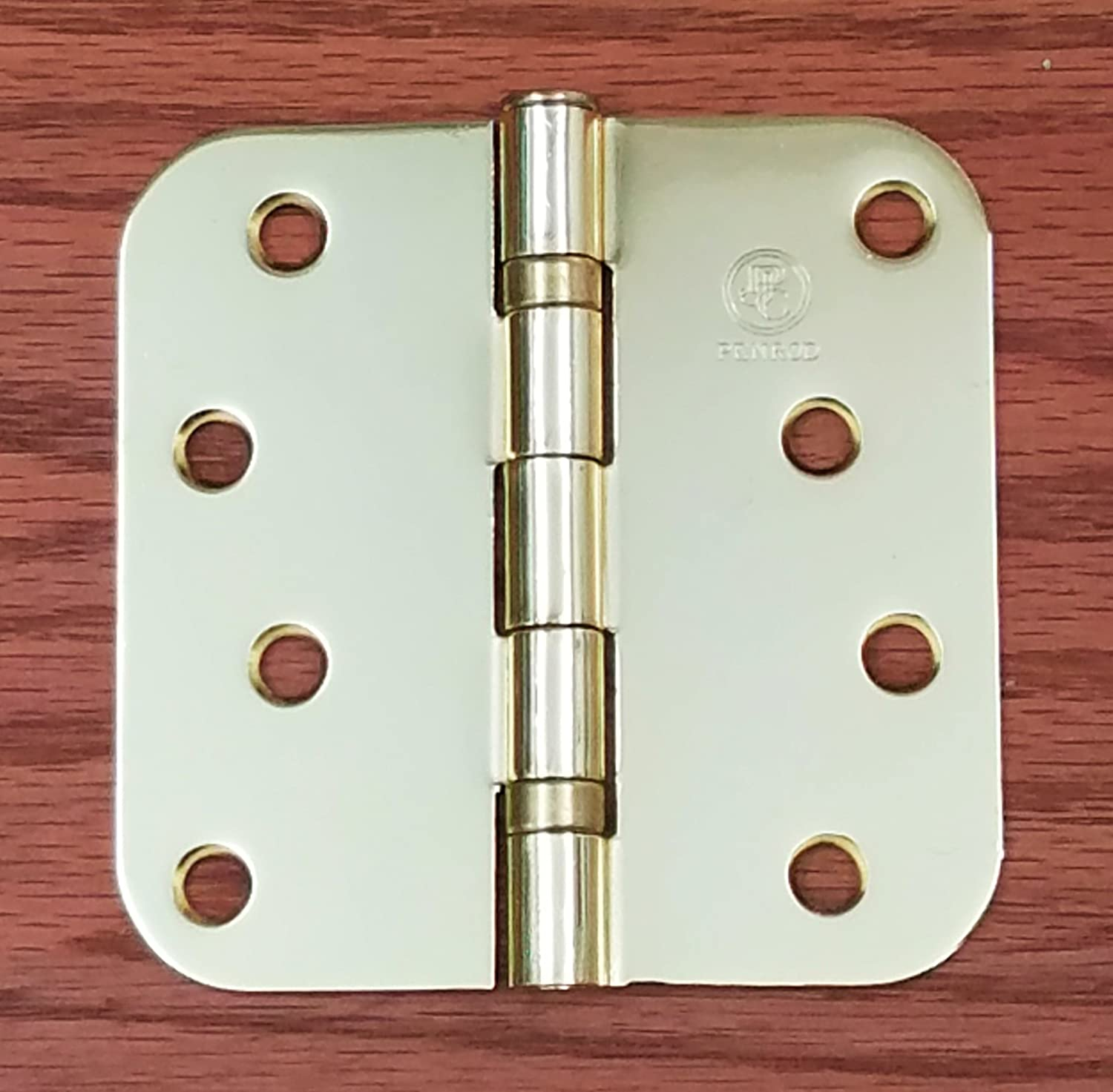 3 Pack Ball Bearing 4 inch with 5//8 inch Radius Penrod Door Hinges Bright Brass
