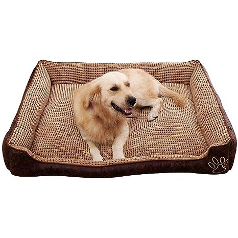 Cama para perros suave y supercálida, tamaño grande