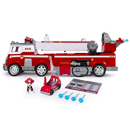 amazon com paw patrol ultimate rescue fire truck with extendable