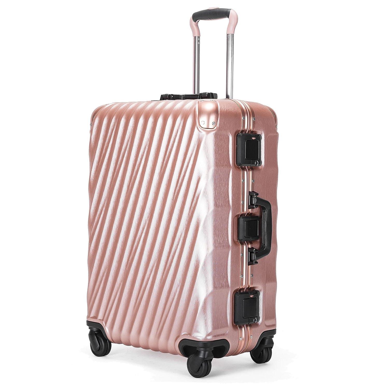 Kroeus(クロース) スーツケース 機内持込 軽量 人気 TSAロック 4輪ダブルキャスター 3段調節キャリーバー キャリーケース 大容量 旅行 出張 一年保証 B07CMXGBH8 2XL(7泊以上、90L)|ローズゴールド ローズゴールド 2XL(7泊以上、90L)