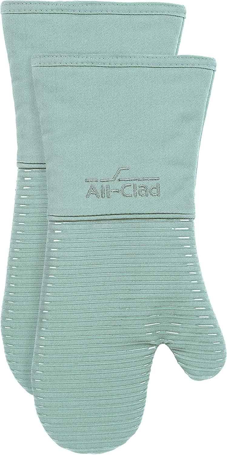 All-Clad Textiles Silicone Oven Mitt, 2 Pack, Rainfall