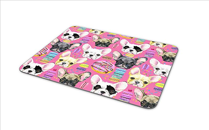 Cute French Bulldog Puppy Mouse Mat Pad Dog Dogs Mum Kids Gift Computer #8649