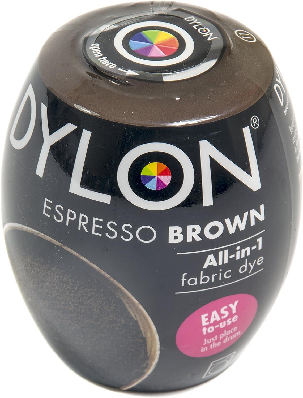 Dylon Caja de Tinte para máquina (3 Unidades), Color marrón, Café expreso, 25 x 10 x 4 cm