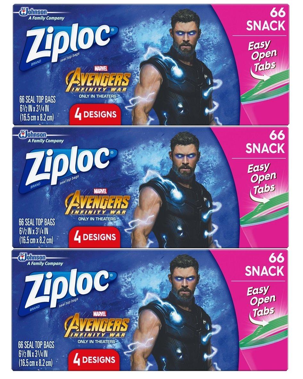 Amazon Com Ziploc Brand Big Bags Featuring Marvel Studios