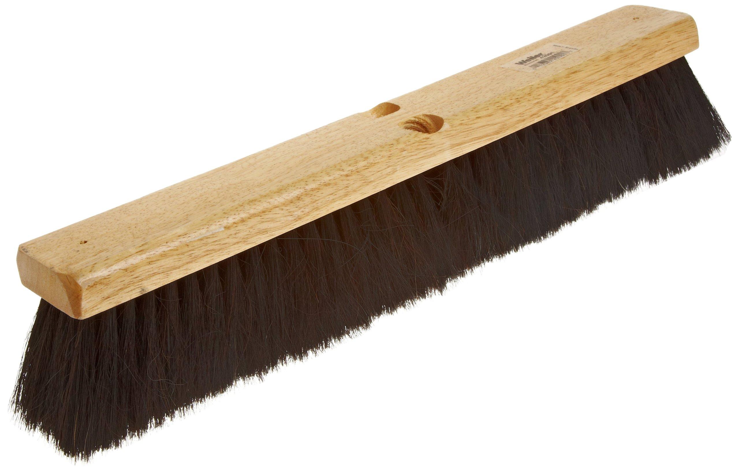 Weiler 42002 Horsehair Fine Sweep Floor Brush, 2-1/2'' Head Width, 24'' Overall Length, Natural by Weiler
