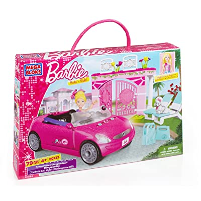 Mega Bloks Barbie Convertible: Toys & Games