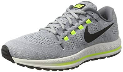 9b6ba94289f0 Nike Men s Air Zoom Vomero 12 Running Shoes Wolf Grey Black 863762 002 Size  7 D