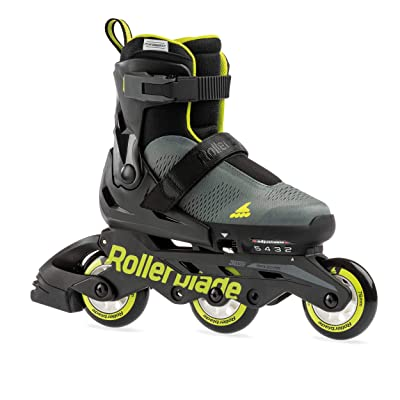 Rollerblade Microblade Free 3WD Kid's Size Adjustable Inline Skate, Anthracite and Lime, High Performance Inline Skates : Sports & Outdoors