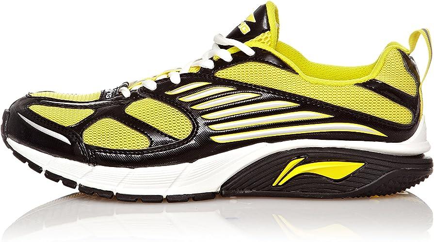 Li-Ning Zapatillas Cushion Running Negro/Amarillo EU 44 (US 10): Amazon.es: Zapatos y complementos