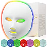 Led Face Mask, Diougens Lee 7 Color Photon Light Skin Rejuvenation Therapy Facial Skin Care Mask