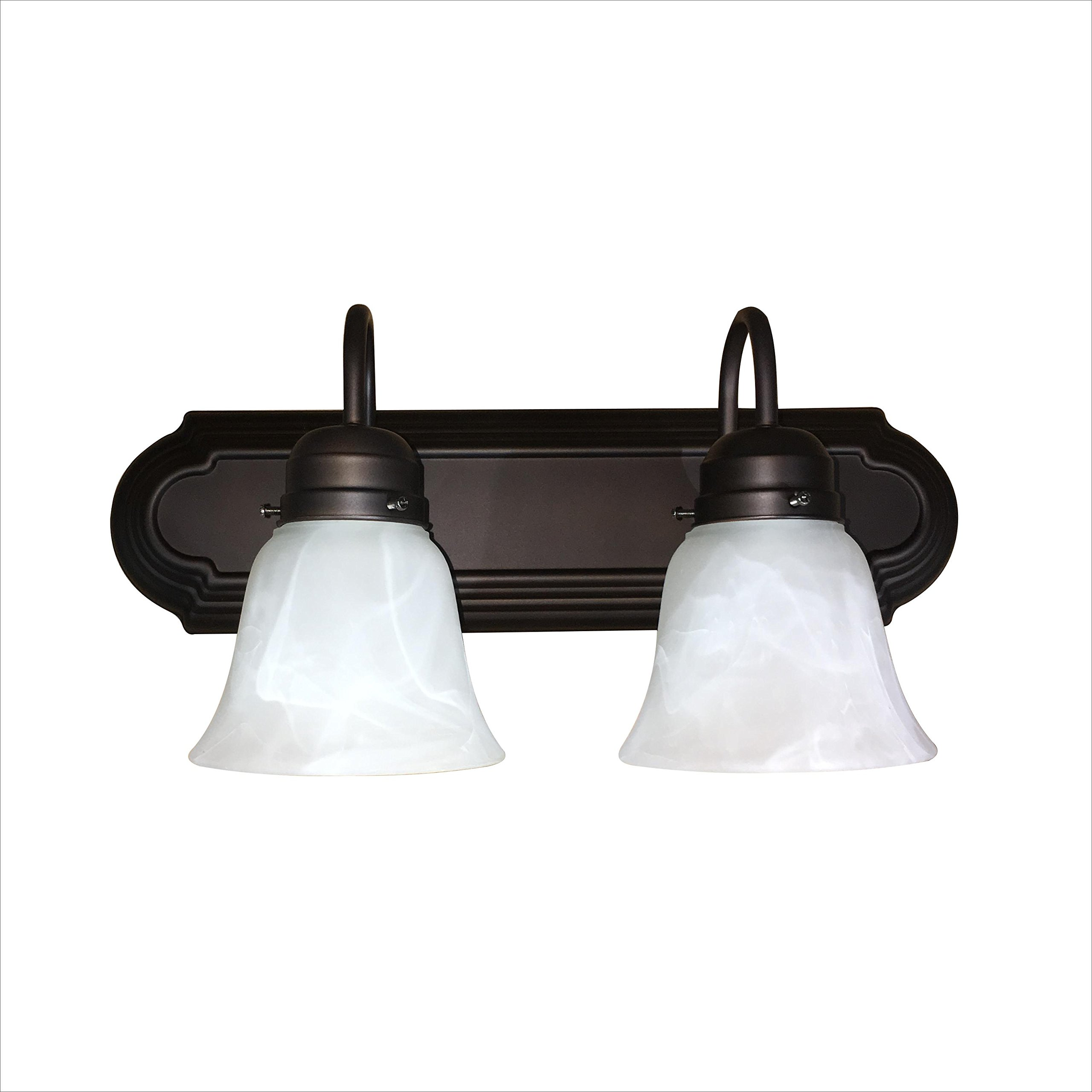 Y Decor L4992-2ORB Monica 1-Light Bathroom Vanity Light In Oil Rubbed Bronze by Y Decor