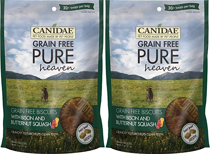CANIDAE Grain Free Pure Heaven Biscuits Bison and Butternut Squash (2 Pack)