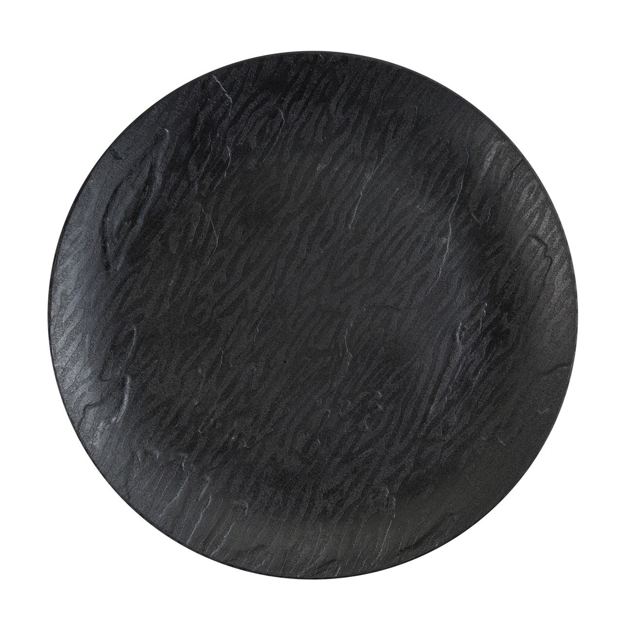 Posh Setting Harmony Collection 40 Pack China Like Wood Pattern, Black Plastic 10'' Dinner Plates Fancy Disposable Dinnerware