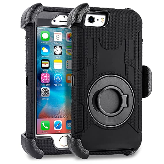 792ae2919f Compatible for iPhone 6 6S Case 4.7 inch, PlusMall Rugged Shockproof Hybrid  Protective Case Back