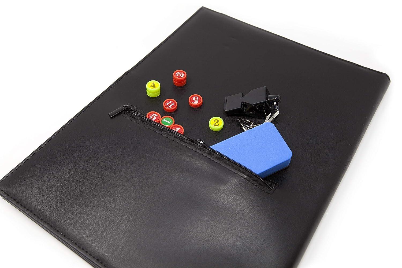 Wiseplayerfc Cartellina Tattica Magnetica per Allenatore di Calcio a 5 con Tasca