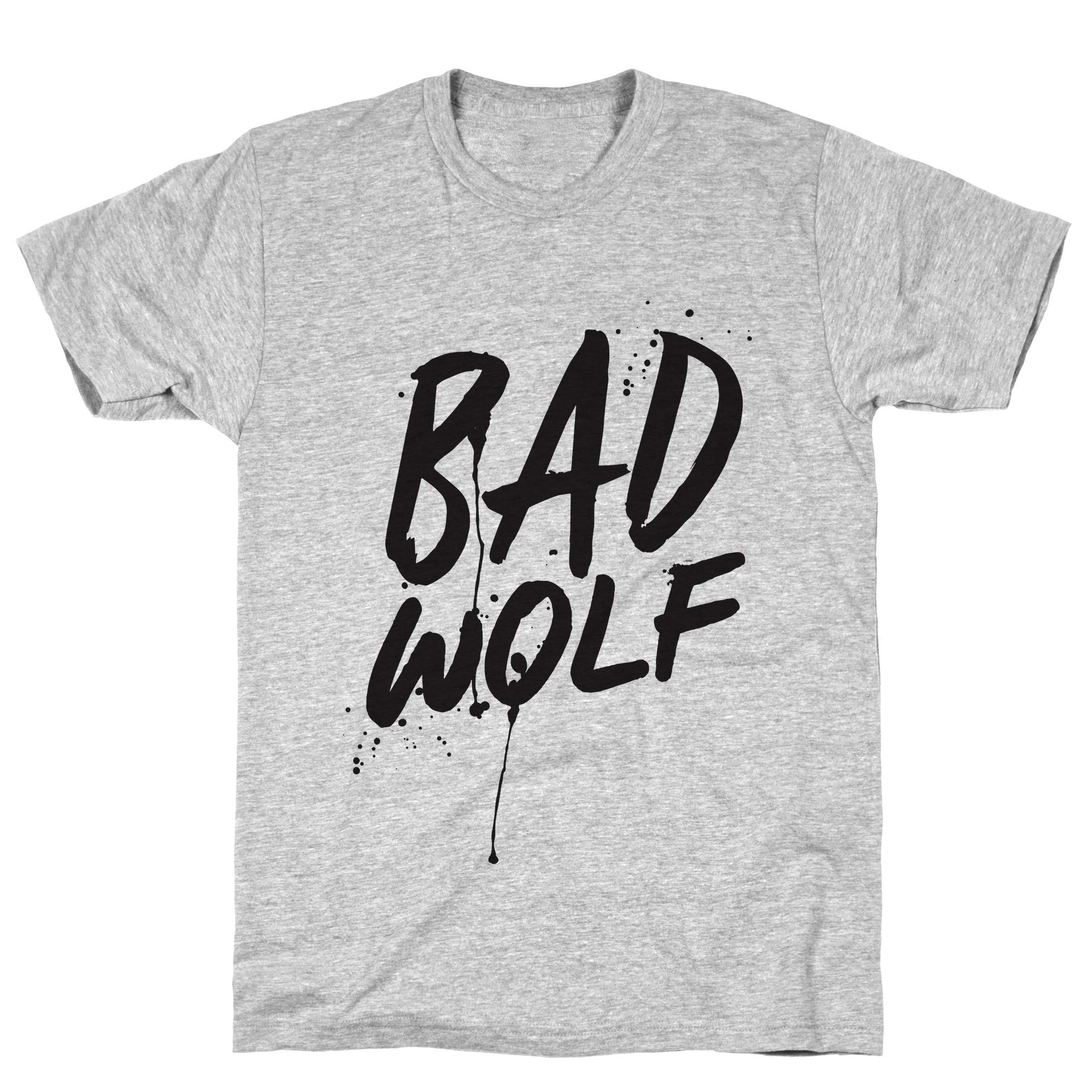 Doctor Who Bad Wolf Athletic Gray S Ts Shirts